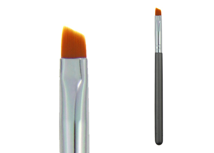 Orange Nylon Hair Makeup Blending Brush Eye Shadow Brush Customized