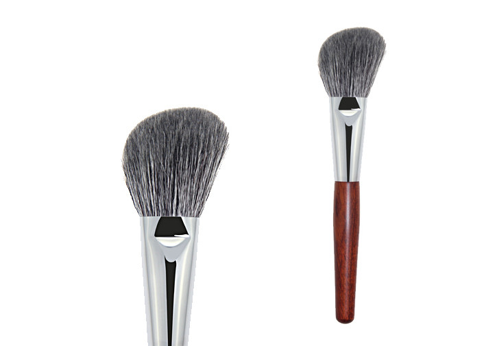 Vegan Pro Makeup Brushes Set Silk Screen Printing Bevel Angle Shaped Hair