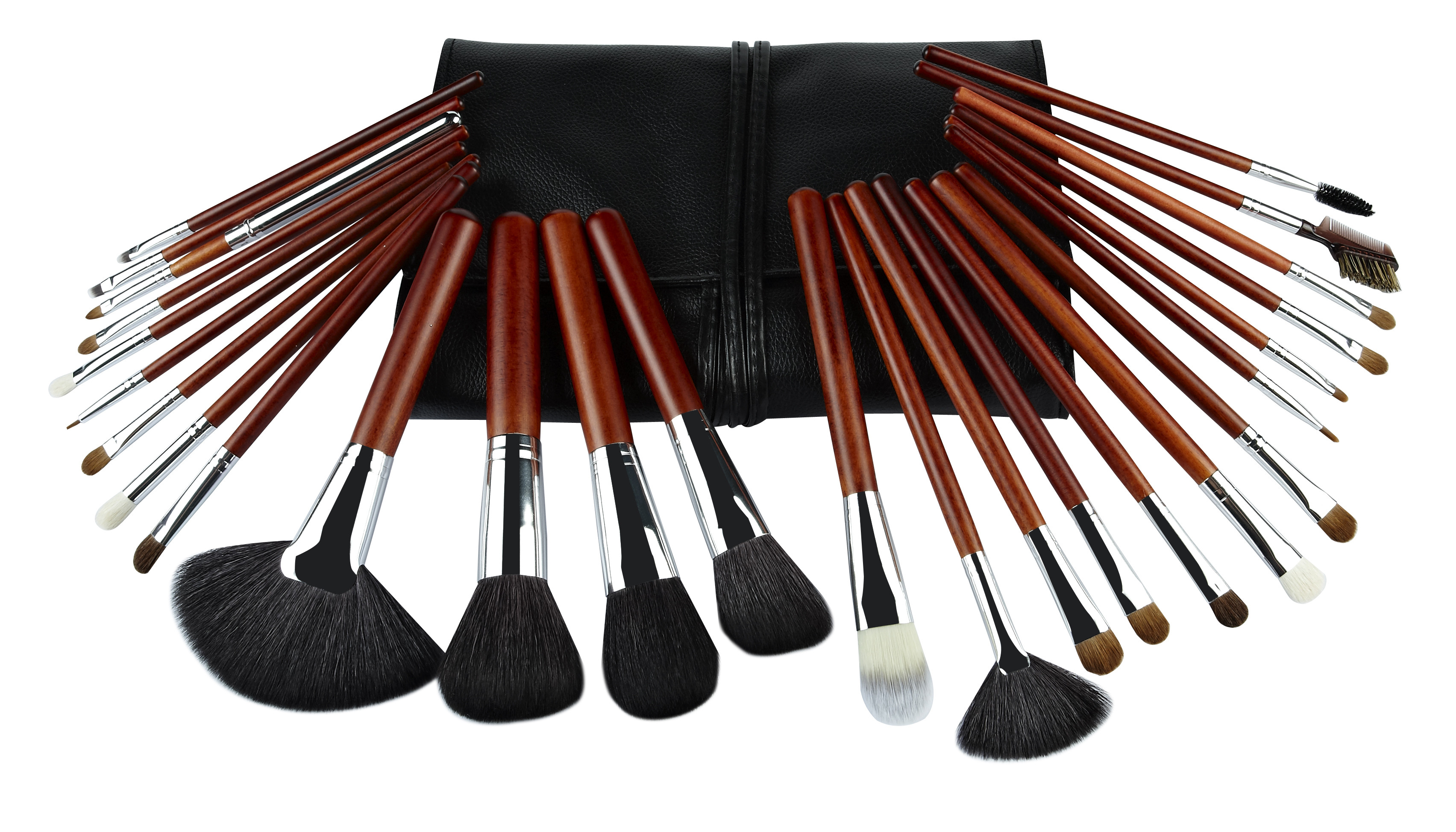 Black Natural Hair face makeup brush set Eye Shadow Full Foundational Makeup Kits