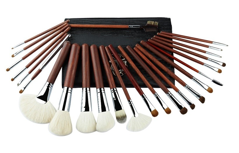 2016 NEW Full Natural Hair And Sliver Copper Foundation Makeup Brush Kits