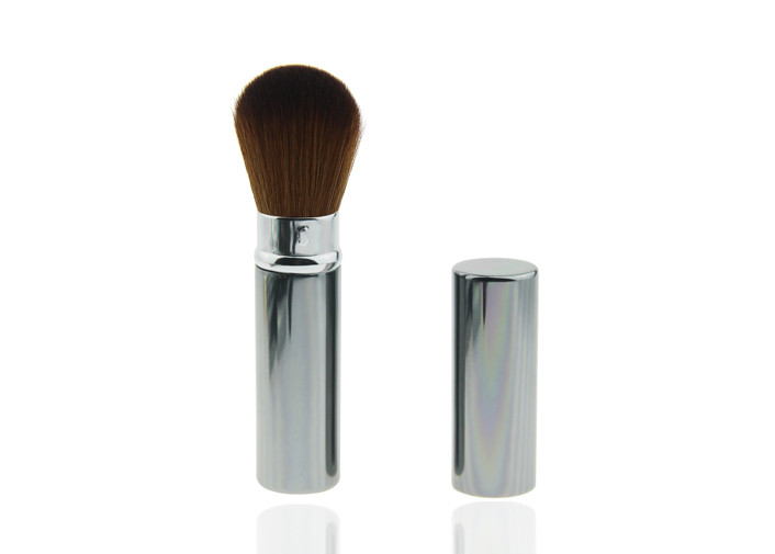 Mineral Private Label Retractable Makeup Brush Cosmetic Brushes , Eco Friendly