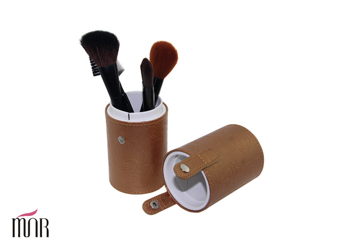 Kinds Of Nylon Hair Falt Brush Makeup Brush Cylinder With Yellow The Straight Cup Package
