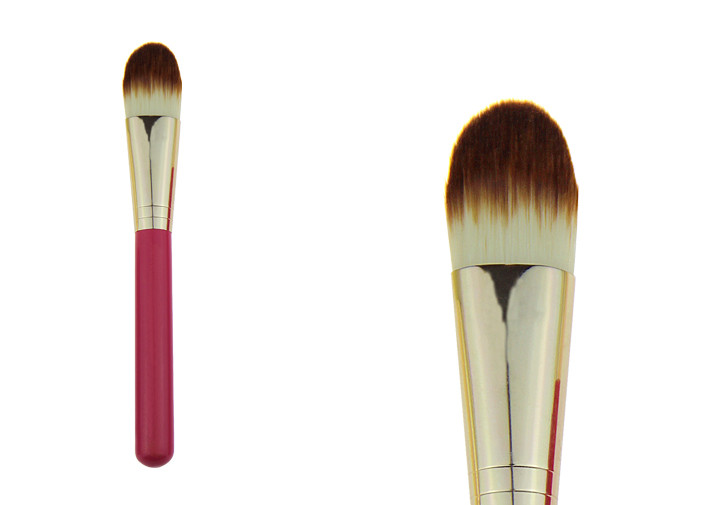 Natural Liquid / Powder Synthetic Foundation Brush For Combination Skin