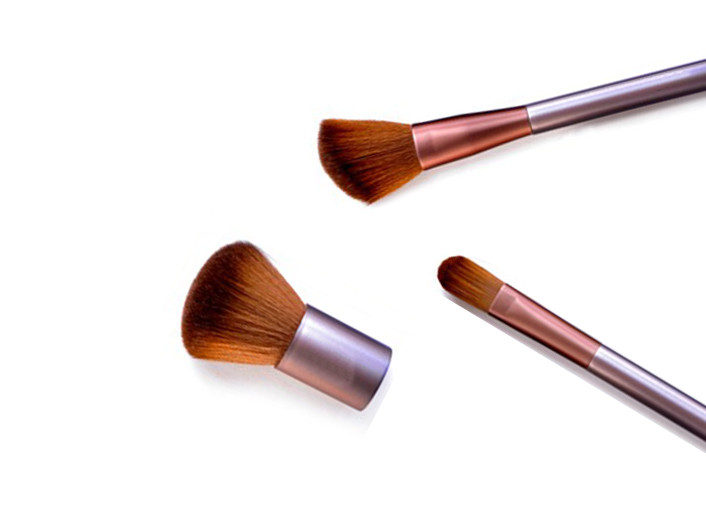 Travel Buffer Bronzer Flat Top Makeup Brush , Eco Bamboo Makeup Brushes